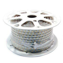 Tira LED 220V SMD5050 High Power, 60Led/m, carrete 50 metros, Blanco frío