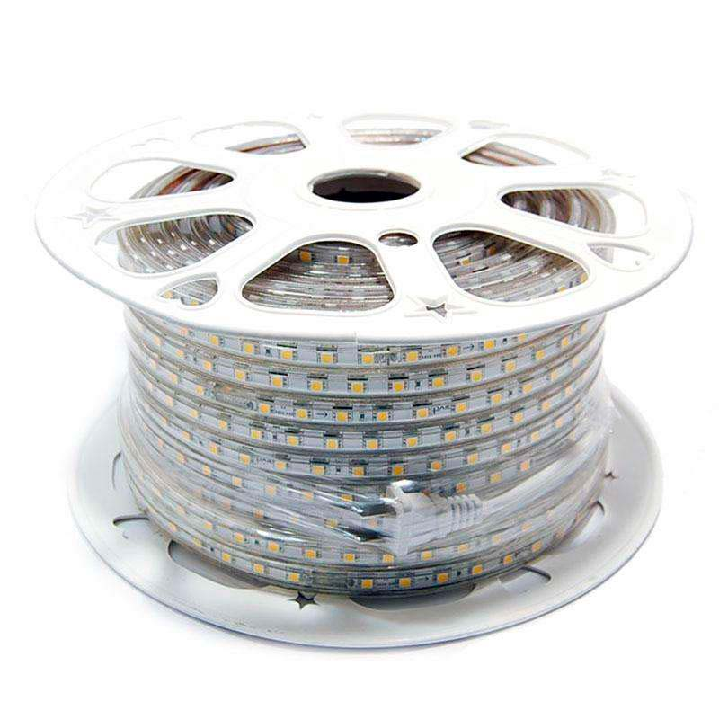 Tira LED 220V SMD5050 High Power, 60Led/m, carrete 50 metros, Verde